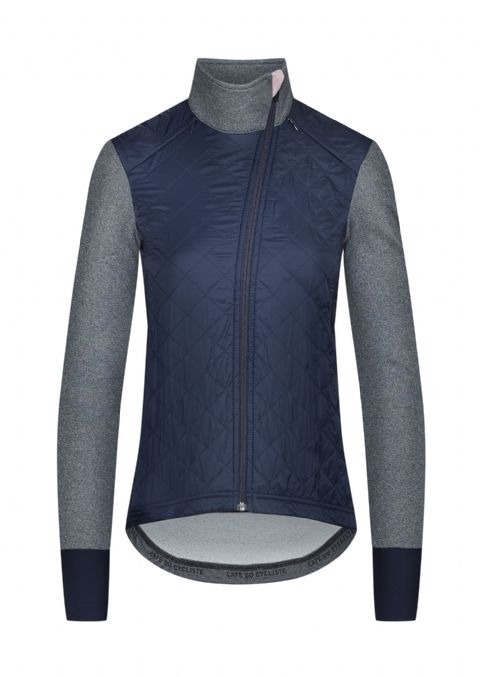 Café Du Cycliste Women's Heidi Windproof Jacket - Navy